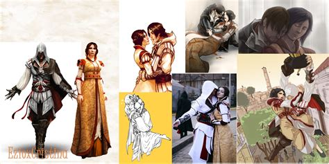 ezio and cristina collage by flaky178 on deviantart