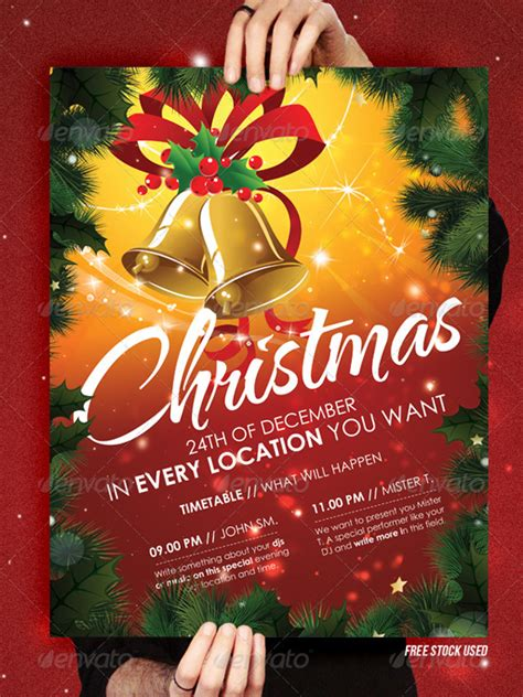 top 10 christmas party flyer templates 56pixels com