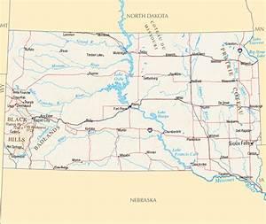 Dacota Sud Ouest : carte dakota du sud guide de voyage usa ouest am ricain ~ Premium-room.com Idées de Décoration