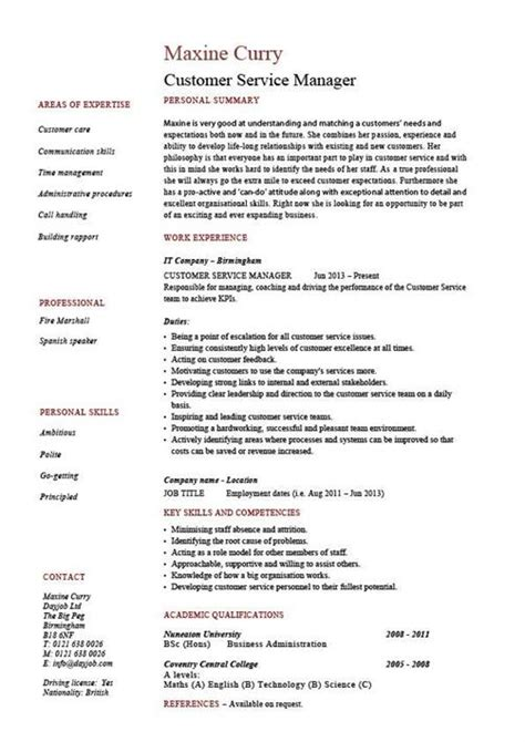create  impressive customer service resume