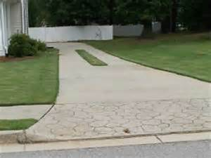 Colored Stamped Concrete Driveway