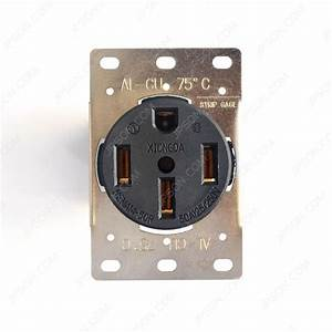 Nema 14 250v 50a Power Receptacle In Industrial