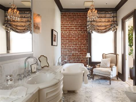 Impressive Bathroom Designs With Brick Walls