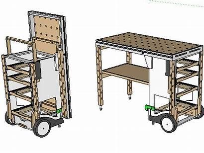 Tool Plans Workbench Cart Festool Portable Mft