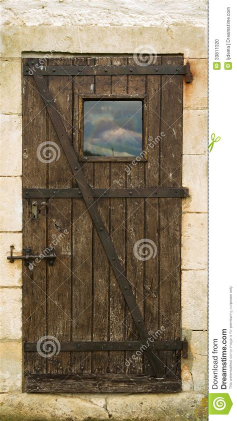 wooden door stock photo image