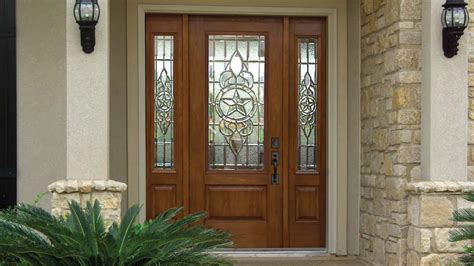 Front House Doors Exterior With Glass Designs