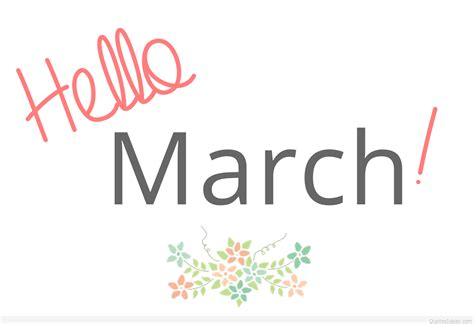 Inspiring Hello March Pics, Photos And Images 2016