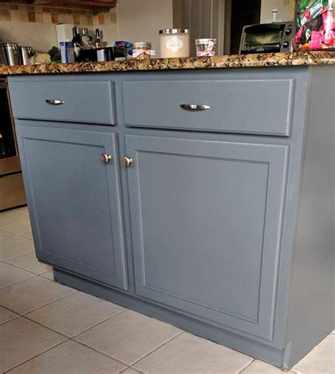 grey stained cabinets for oak kitchen island in gf 39 s gray gel stain general finishes