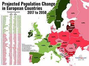 Projected Population Change in European Countries, 2017 to ...