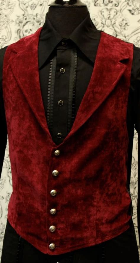 steampunk vest gothic victorian jacket velvet shrine vampire mens clothing aristocrat goth pirate clothes burgundy jackets outfits pirat attire puff