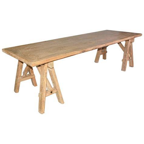 rustic sawhorse dining table  sale  stdibs