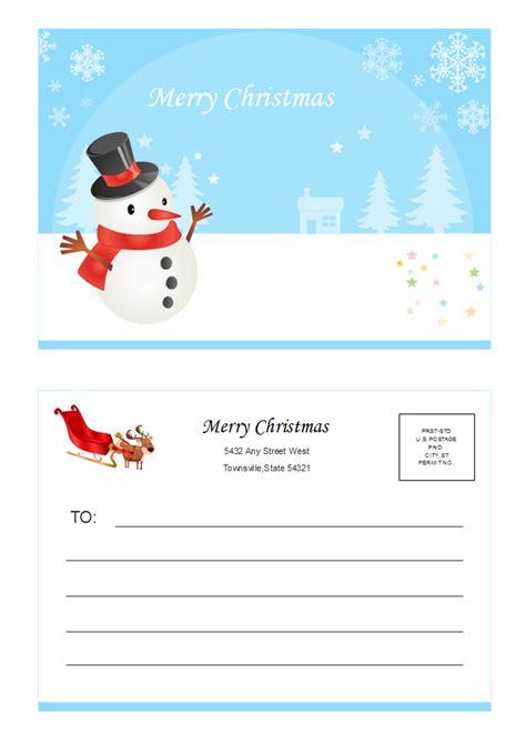 christmas postcard  christmas postcard templates