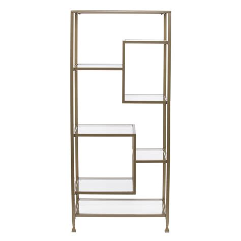 Glass Etagere Bookcase by Metal Glass Asymmetrical 201 Tag 232 Re Bookcase