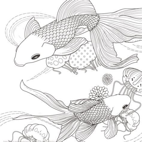 coloriage poisson dor coloriages  imprimer gratuits