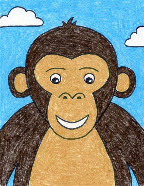 draw  monkey face art projects  kids