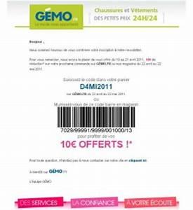 Code Reduction La Boutique Du Net : magasins gemo 10 euros pour 40 achats bons plans et ~ Dailycaller-alerts.com Idées de Décoration