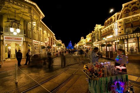magic  disneys main street  night stuck  customs