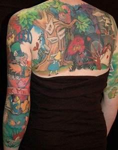 Alice in Wonderland Tattoos : alice in wonderland tattoo