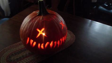 Trick Or Treat Pumpkin Carving Templates Free by Pumpkin Carving Sam S Trick R Treat Pumpkin Youtube