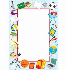 School Clip Art Borders | School border vector art ...