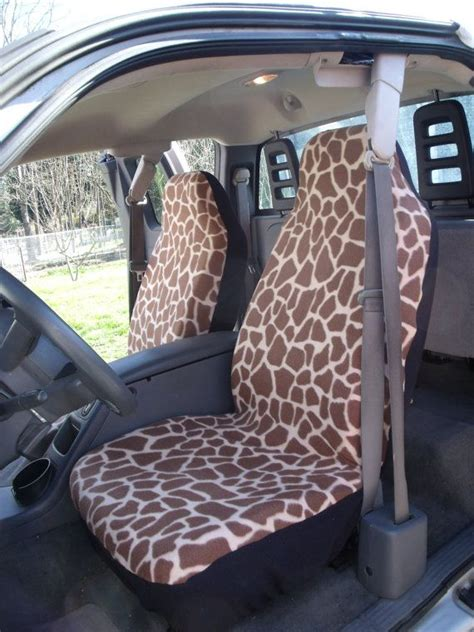 set  large giraffe prints seat cover  steering