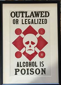 Alcohol Is Poison 1920 Vintage Silkscreen Poster