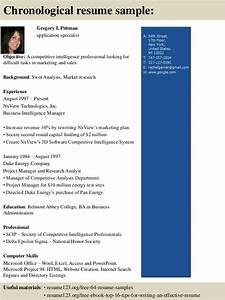 Sample Of Chronological Resume Format Top 8 Application Specialist Resume Samples