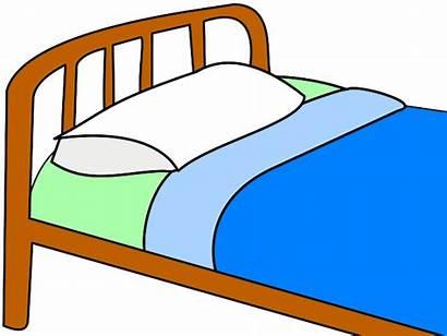 Bed Clipart Clip Quilt Pillow Vector Sleeping