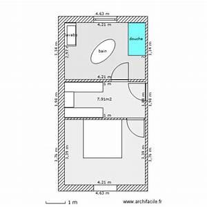 salle de bain dressing chambre plan 3 pieces 35 m2 With plan de dressing chambre