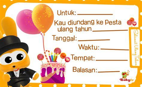 Undangan Ulang Tahun by Babytv Undangan Pesta Ulang Tahun
