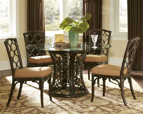 dining room set round glass dining room sets marceladick com