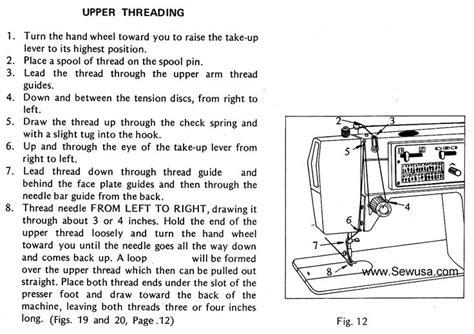 Dressmaker Sewing Machine Threading Diagram New