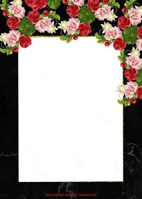 (FREE Printable) Fancy Floral Wedding Invitation