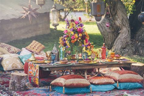 boho chic table ls picture of boho chic wedding table settings to get inspired 17