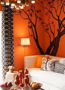 Pin by trisha ellison on house ideas pinterest for Orange and brown living room decor