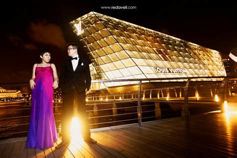 pre wedding night photoshoot locations  singapore