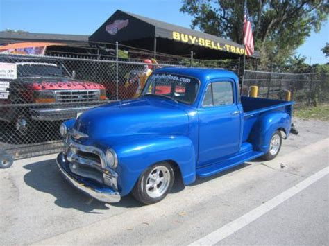 Purchase Used 1954 Chevy Pick Up 5 Window Restomod Cold A