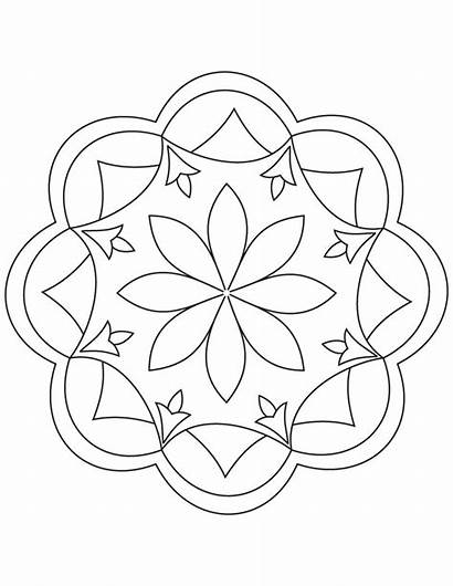 Rangoli Coloring Pages Printable Designs Template Patterns