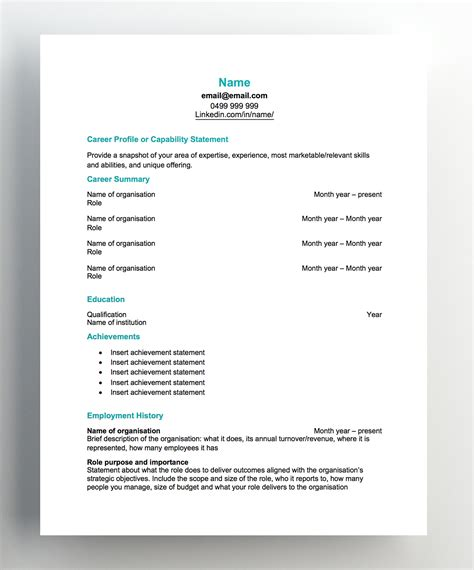 Free Resume Template by Free Resume Templates Hudson