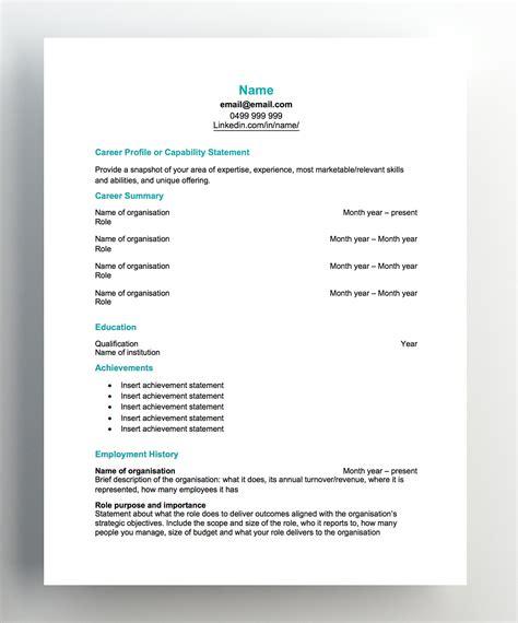 resume templates hudson