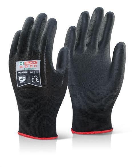 pug pu coated gloves black  beeswift manufacturer