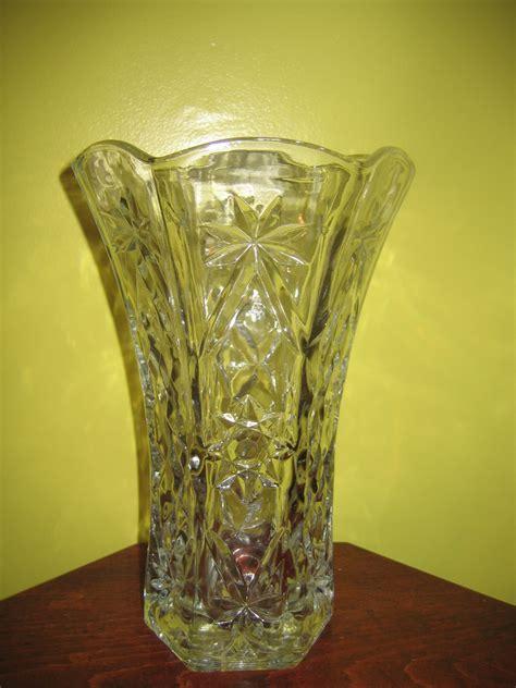Flower Vases For Sale by Vintage Clear Cut Glass Flower Vase Item 1022 For Sale
