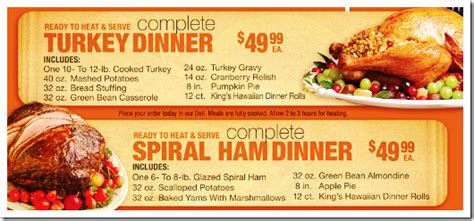 Home delivered thanksgiving meals dinner to your door. SaveMart Thanksgiving Dinners 2011 | Think 'n Save