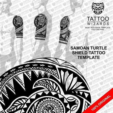 samoan maori polynesian turtle shield tattoo stencil