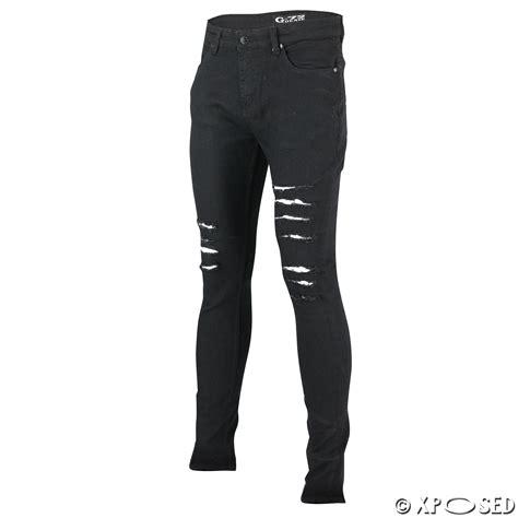 Menu2019s New Black Blue G72 Super Stretch Ripped Skinny Slim Fit Denim Jeans Pants | eBay