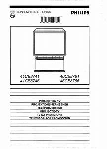Philips Projection Television 41ce8741 User Guide