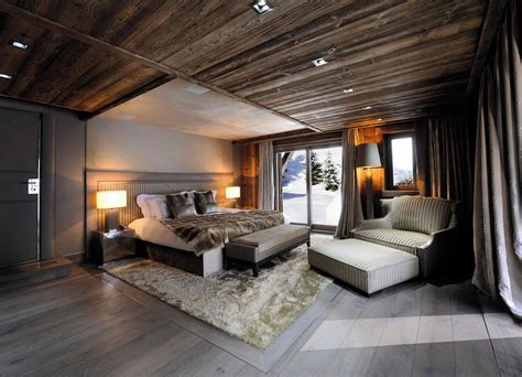 chambre chalet de luxe chic modern rustic chalet in the rhône alpes idesignarch