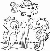 Coloring Seahorse Baby Pages Cartoon Cute Fun Sea Animals Horse Colouring Animal Creatures Coloringpagesfortoddlers Ocean Printable Seahorses Print Visit Easy sketch template