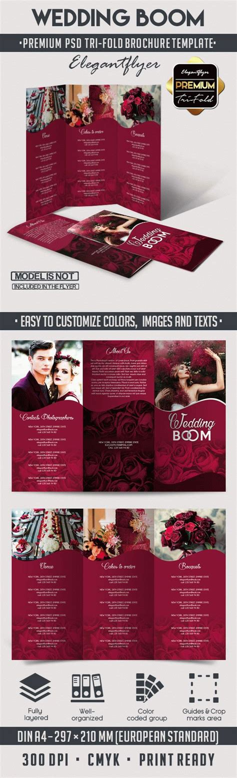 Wedding Free Tri Fold Psd Brochure Template By Wedding Boom Tri Fold Brochure Psd Template By