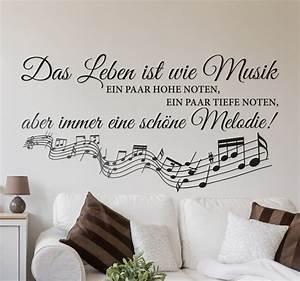 Das Leben Ist Wie Ein Fahrrad : das leben ist wie musik wandtattoo tenstickers ~ Orissabook.com Haus und Dekorationen